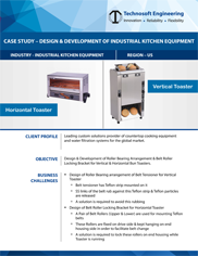 Design & Development Of Industrial Kitchen Equipment
