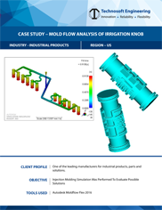 Mold Flow Analysis of Irrigation Knob
