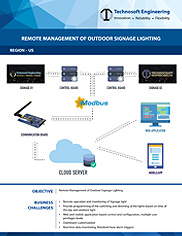 Remote Management of Outdoor Signage Lighting